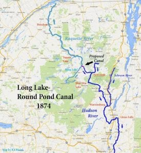 long lake round pond canal 1874