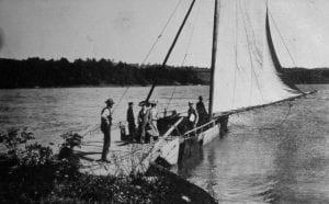 A Lake Champlain sail ferry (courtesy of the the Benson Museum, Benson, VT).