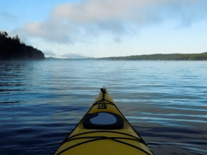 A kayak on Cranberry Lake
