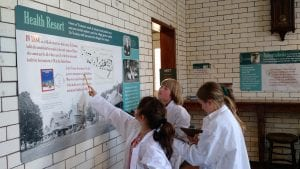 Petrova Elementary 4th graders on a recent field trip to the Saranac Laboratory Museum