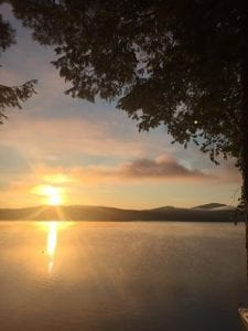 schroon lake sunset