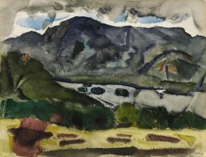 John Marin, watercolor titled Lake George