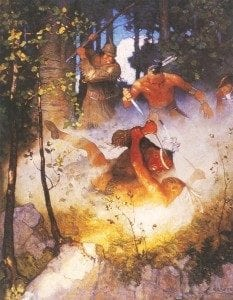 illustration by N.C. Wyeth from a 1919 Charles Scribner's Sons edition of Last of the Mohicans