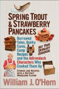 spring trout and strawberry pancakes