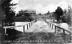 The Clubhouse seen from the bridge across Twitchell Creek