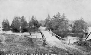 The bridges across Twitchell creek looking in the direction of Beaver River