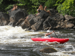 kayaker on Stone Valley section of the Raquette River