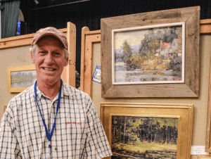 winner of the Adirondack Plein Air Festival, photo by Lisa Kilby