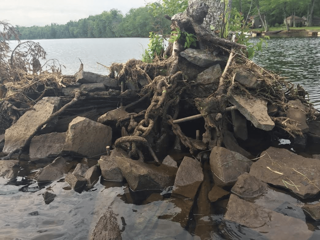 The Big Boom Old Hudson River Chain Recalls Logging