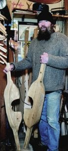 Rob Frenette makes wooden yokes as well as guideboats