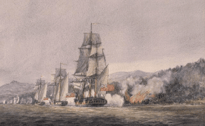 battle of valcour painting