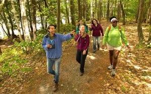 students hiking dec photo
