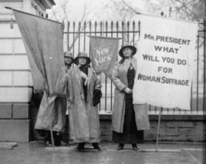 pickets in front of white house