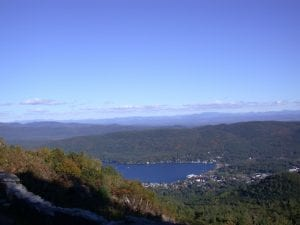 Lake George Village from Prospect Mountain courtesy Diane Chase of Adirondack Family Time.