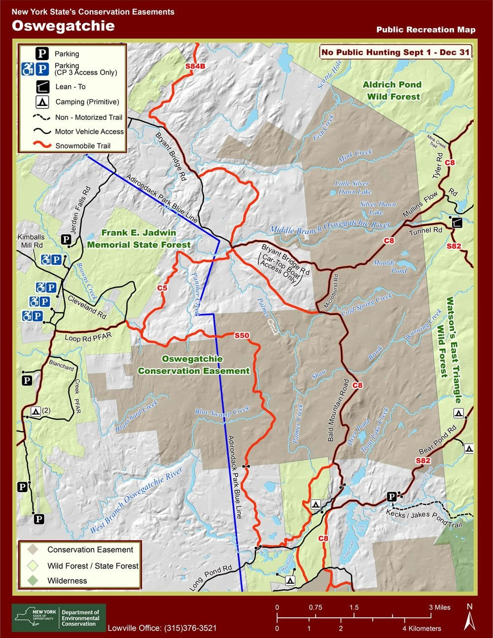 Oswegatchie Conservation Easement Area Map