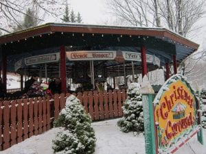 Christmas Carousel Santa's Workshop, North Pole, NY. Photo by Diane Chase
