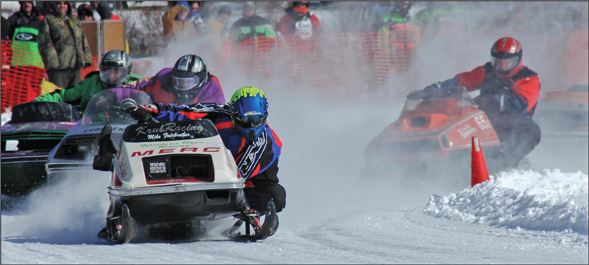 Amateur snowmobile racing
