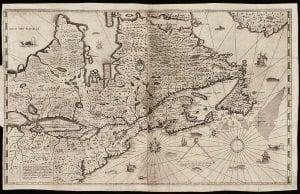 Samuel de Champlain 1632 map