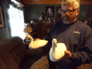 jerry lincoln and swan decoys
