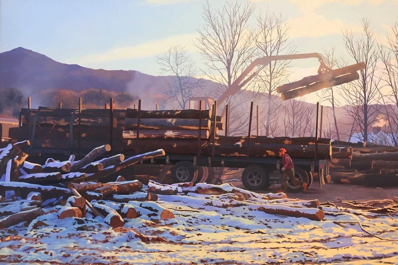 Painting: Dawn Loading by Kathleen Kolb