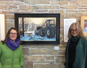 Kathleen Kolb (l) and and Verandah Porche (r) in the Heron Gallery at the VIC