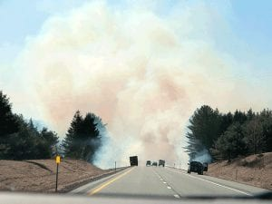 orthway Fire Just South of Pottersville, April 2012 (Jonathan Sinopoli Photo)