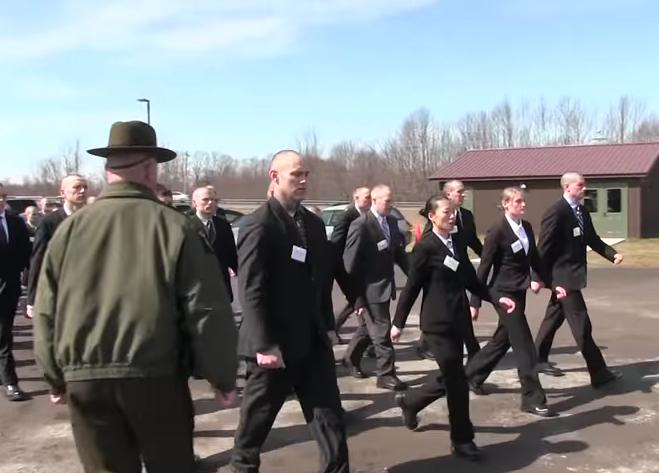 Forest Ranger and ECO recruits marching at the academy