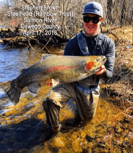 2016 record steelhead caught by stephen brown