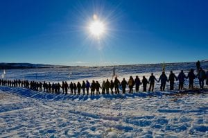 Sacred Circle at Standing Rock protest site