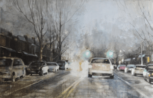 headlights watercolor
