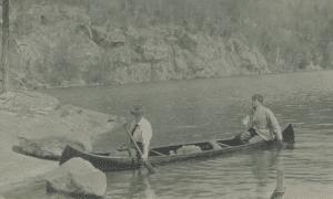 river navigation postcard