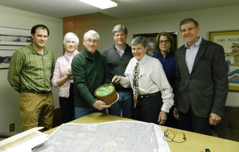 Members of the Board of Trustees of the Lake Placid Land Conservancy (LPLC), the Barkeater Trails Alliance, and LPLC staff