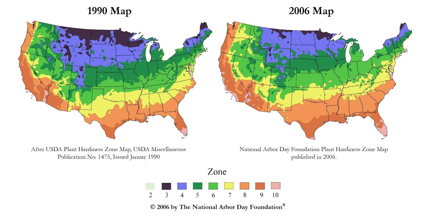Plant Hardiness Zone Map Provided By USDA Image USDA Planting - Us planting map
