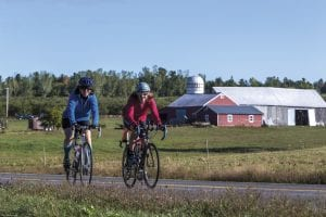 Liz-Rivers-right-and-Karen-Delaney-begin-their-fifty-mile-circuit