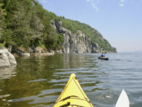 Paddling along the Palisades