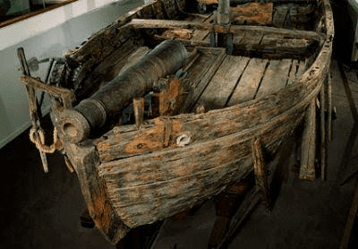 The gunboat Philadelphia is the second oldest surviving American fighting vessel