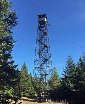Wakley Mountain Fire Tower - DEC Photo