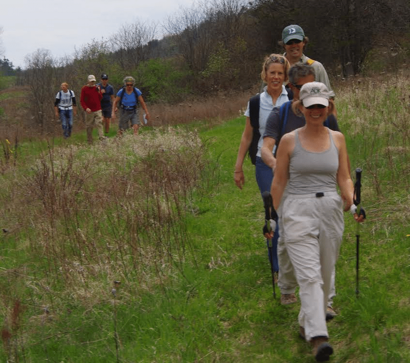hikers on on the Long Valley Trail