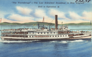 ticonderoga steamboat postcard