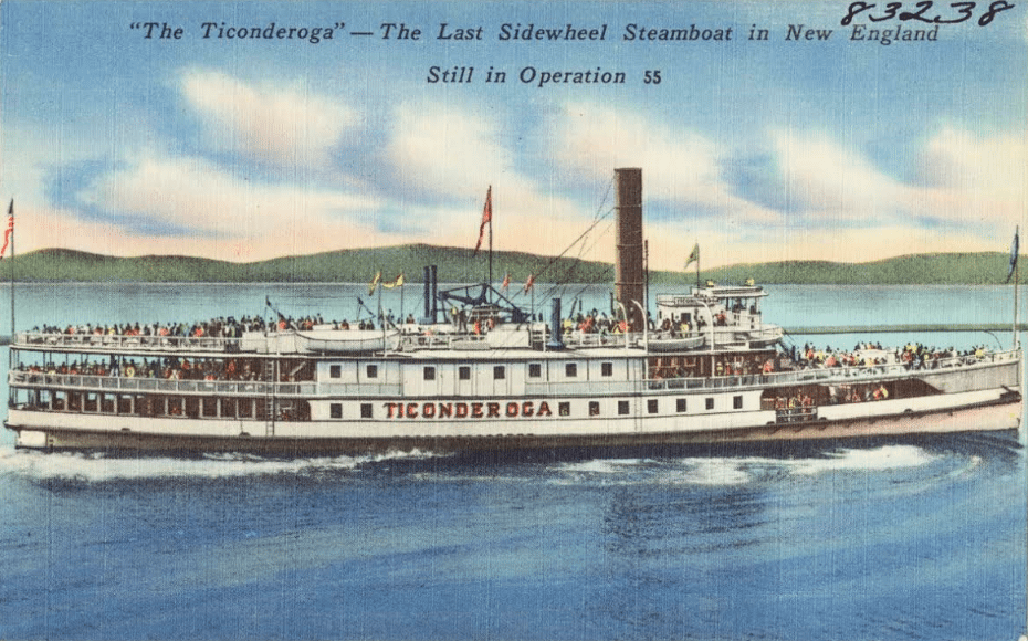 ticonderoga steamboat postcard
