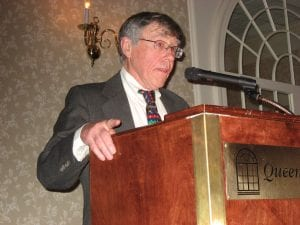 John Collins accepts the Howard Zahniser Adirondack Award, 2009