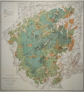 Map of the Adirondack Plateau showing the position & condition of existing forests 1884