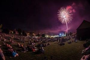 Ticonderoga Fireworks Photo Courtesy Ticonderoga Chamber of Commerce