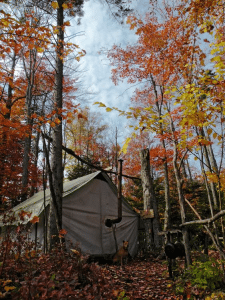 fall hunting camp