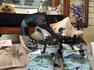 Merchandise in the newly opened Adirondack Center for Loon Conservation in Saranac Lake