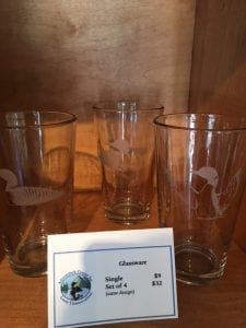 Glassware for sale at Adirondack Center for Loon Conservation