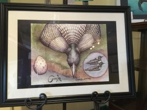Local artwork for sale at the newly opened Adirondack Center for Loon Conservation