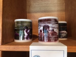 mugs for sale at newly opened Adirondack Center for loon Conservation