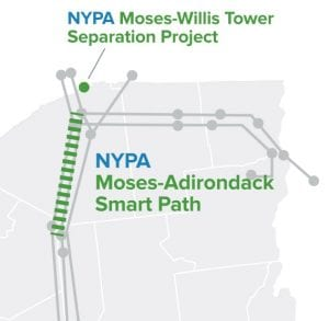 Moses Adirondack Power Line Map