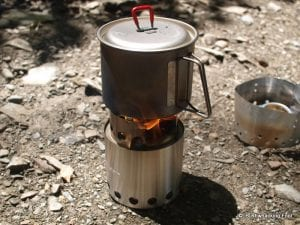 stove lite. solo stove was nice enough to provide me with a free lite try out for this review. it weighs about nine ounces, and is appropriate 1-2